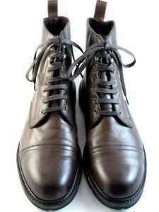 """Allen Edmonds """"ALPINE"""" WEATHERPROOF Cap Toe Boots 11.5 D  Brown USA (604)"""