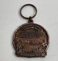 Vintage Yellowstone National Park Souvenir Key Chain Charm Key Ring Collectible