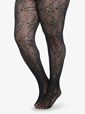 HALLOWEEN PLUS SIZE SPIDER WEB FISHNET TIGHTS IN  1X/2X  3X/4X  COLLANT COUTURE