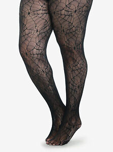 HALLOWEEN COSTUME  PLUS SIZE SPIDER WEB FISHNET LACE TIGHTS WITCH 1X/2X  3X/4X