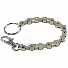 Silver Mini Motorcycle Linked Chain Key Ring Bracelet GSXR YZF CBR ZX Ninja