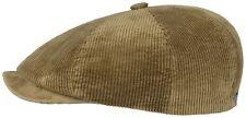 Stetson Manchester Corduroy Bakerboy Cap Hat Hatteras Burbank 7 Beige New