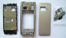 Silver fascia housing cover case facia faceplate for Nokia X6 x6