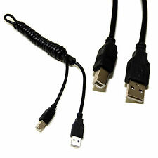 HQRP USB 2.0 Cable (M/M) for HP OfficeJet 4500 4500 4575 4620 4622 5610 Printer