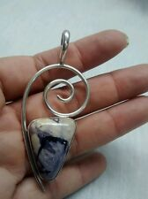Very nice Native American TLD sterling purple  stone pendant