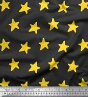 Soimoi Grau Baumwoll-Voile Stoff Sterne Star Stoff Meterware 42-lS6