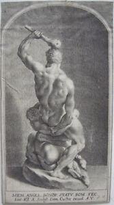Lucas Kilian (1579-1637) Hercules erschlägt Cacus Radierung 1610 n Michelangelo
