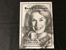 BETTY JOHNSON—1993 PROMOTIONAL POSTCARD