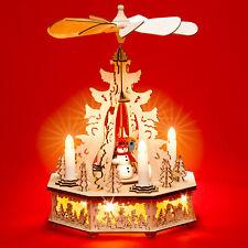 SIKORA P31 Pyramide de noël bois bougies électriques - Hauteur : 32.5 cm