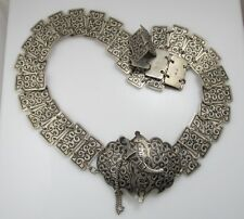 Antique Original Perfect Silver Russian Amazing Niello Russian Heavy Belt A Great Variety Of Models Antiques