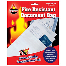 Fire Resistant Document Bag Fireproof Protection Bag New Legal Size