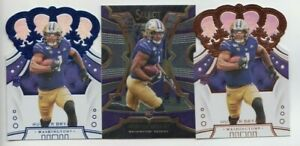 (3) Hunter Bryant 2020 PANINI CHRONICLES CROWN ROYALE + SELECT ROOKIE LOT