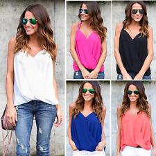 Women Ladies Summer Chiffon Short Sleeve Casual Shirt Tops Blouse T-Shirt
