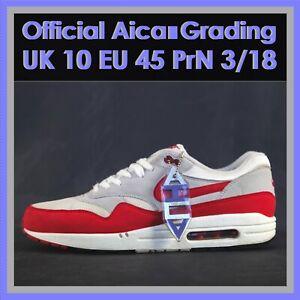 Nike Air Max 1 OG University Red 2012 White Grey Size UK10 EU45 US11 NO RESERVE