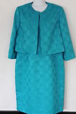 Kasper Dress & Jacket Set Size 14 Turquoise