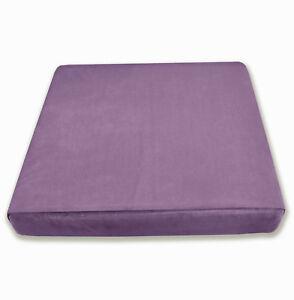 Mf20t Grape Thick Microfiber Velvet Thick 3D Box Seat Cushion Cover Custom size