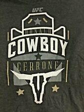 UFC MMA Fan T-Shirt COWBOY DONALD CERRONE Size XL CHARCOAL GREY NEW!