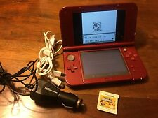 Nintendo New 3DS XL Red Bundle W/chargers, New Super Mario Bros. 2, Pokémon Red