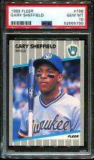 1989 FLEER #196 GARY SHEFFIELD RC BREWERS PSA 10 A3076811-790