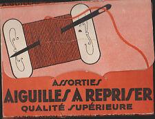 ANCIENNE POCHETTE D'AIGUILLES A REPRISER/QUALITE SUPERIEURE-FABRIC.FRANCAISE