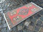 Vintage from 1950s, %100 wool handmade Turkish vintage rug   1,7 x 3,5 ft
