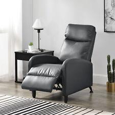 en.casa Relaxsessel Fernsehsessel Polster Sessel Liegefunktion Liegestuhl Grau