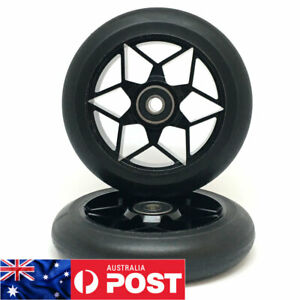 2 x 110mm ALLOY GR!ND STUNT SCOOTER WHEELS ABEC 9 BEARINGS (V1) - FREE POST