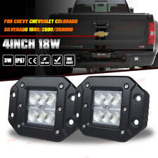 Chevy Silverado 1500/2500/3500 Flush Mount Backup Reverse Bumper Led Light Pods
