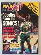 MAXI BASKET N°126 FEVRIER 1994 SEATTLE SUPERSONICS - SHAWN KEMP