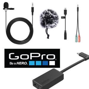 External Pro Lavalier  Microphone For GoPro HERO6 HERO 6 BLACK + AAMIC-001