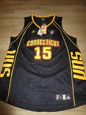 Connecticut Sun #15 WNBA Basketball adidas Jersey Women's XL X-Large NEW