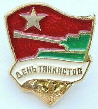 New listing Ussr Soviet Russian Military Pin Badge. Tankmen Day. Tankist. Star
