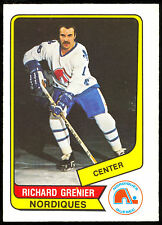 1976 77 OPC O PEE CHEE WHA #59 RICHARD GRENIER NM QUEBEC NORDIQUES HOCKEY CARD