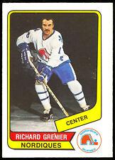 1976 77 OPC O PEE CHEE WHA #59 RICHARD GRENIER NM QUEBEC NORDIQUES HOCKEY CARD