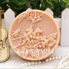 1pcs Grape Branches (zx137) Silicone Handmade Soap Mold Crafts DIY Mould