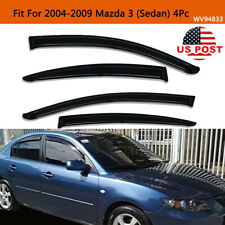 Fits 2004-2009 Mazda 3 Series Sedan Smoke Window Visors Rain Guards Deflector