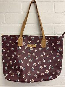 New Brakeburn Burgandy Floral Shoulder Bag