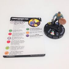 Heroclix Star Trek Away Team set Christopher Pike #040 Super Rare figure w/card!