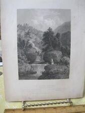 Vintage Print,SILVER CASCADE,American Scenery,Bartlett,1840
