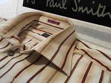 "PAUL SMITH Mens Shirt 🌍 Size 15"" (CHEST 40"") 🌎 RRP £95+ 🌏 TEXTURED STRIPES"