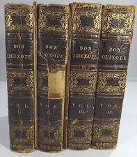 Don Quixote, 4 Vol. Leather Set 1820, Richard Westall Engravings - Need Repair