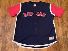 BOSTON RED SOX S/S Polyester Buttonup Baseball Jersey Size L