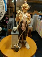 "Vintage 1985 Vudi Clown figurine Stock Broker Figurine 14"" tall"