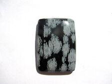 Schneeflocken Obsidian Snowflake Obsidiane Cabochon 35,5x25,6 mm 51 ct. U10644
