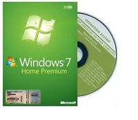 Genuine dell Windows 7 Home premium SP1 32bit Full Version DVD Product Key COA