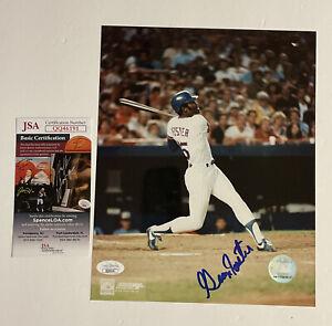 George Foster Signed 8x10 JSA COA New York Mets MLB Baseball PhotoFile