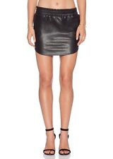 Monrow Vegan Leather Black Baseball Skirt Size Small S
