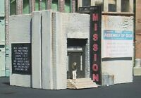 Downtown Deco HO Scale Rescue Mission w/funny sign Building kit Craftsman