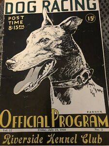1940 Riverside Greyhound Program