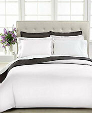 Charter Club Bedding, Damask Solid 500 Thread Count Full/Queen Duvet Cover WHITE
